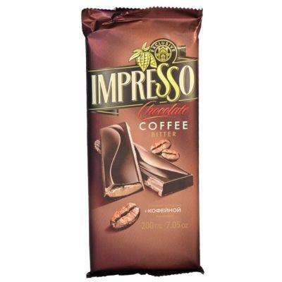 Шоколад Спартак Импрессо горький с кофейной начинкой