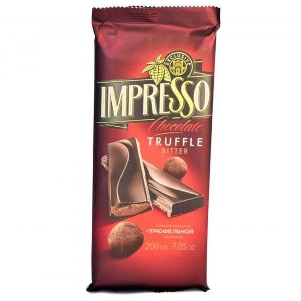 Шоколад Спартак Импрессо горький с трюфельной начинкой