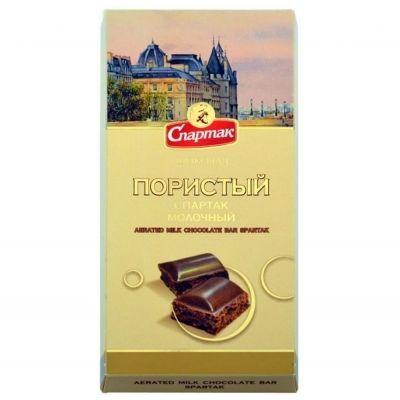 Шоколад пористый Спартак молочный пенал