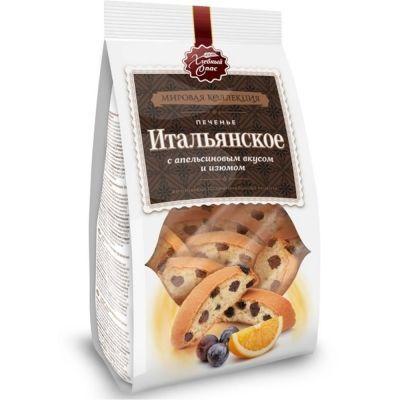 Печенье Хлебный спас Итальянское с апельсиновым вкусом и изюмом