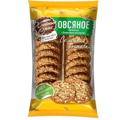 Печенье Хлебный спас Овсяное Злаковое ассорти