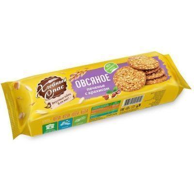 Печенье Хлебный спас Овсяное с арахисом