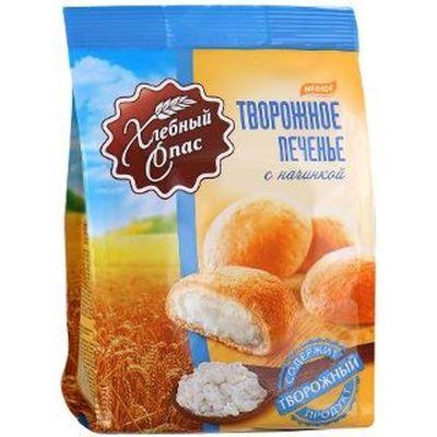Печенье сдобное Хлебный спас творожное с кремовой начинкой с творожным вкусом