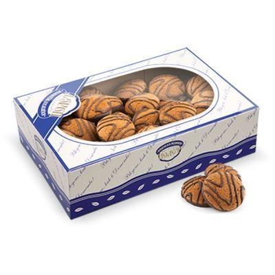Печенье Полет Овсяное мини декорированное темной глазурью