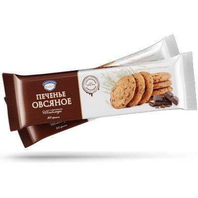Печенье Полет Овсяное с кусочками шоколада