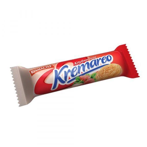 Печенье Кухмастер Kremareo сахарное с клубничной начинкой