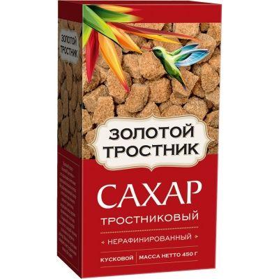 Сахар Золотой Тростник тростниковый нерафинированный кусковой