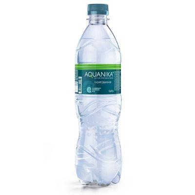 Вода минеральная Акваника артезианская высшей категории газированная ПЭТ