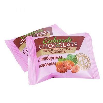 Конфеты COBARDE el chocolate мультизлаковые с изюмом