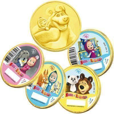 Шоколад Монетный двор Шоко медали Маша и медведь
