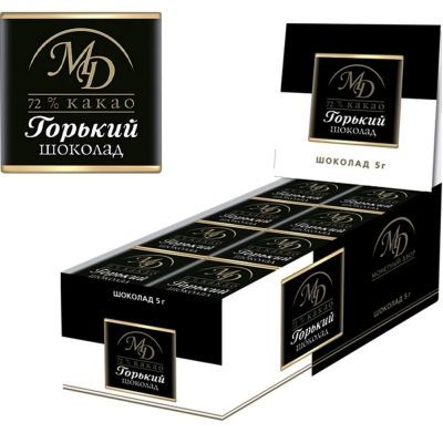 Шоколадные плитки 72 % какао Монетный двор