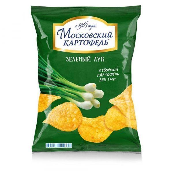 Чипсы картофельные Московский картофель хрустящие со вкусом зеленого лука