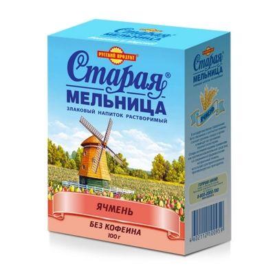 Напиток злаковый Русский продукт Без кофеина ячменный Лидер