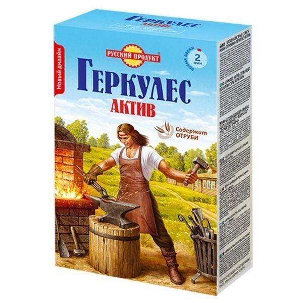 Геркулес Русский продукт Актив с овсяными отрубями (Овсяные хлопья)