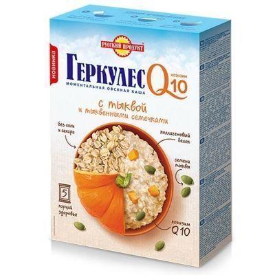 Овсяная каша моментального приготовления Русский продукт Геркулес Q10 с Тыквой и тыквенными семечками