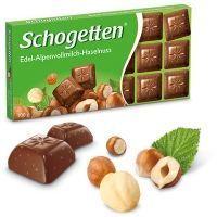 Шоколад молочный Schogetten Milk Chocolate With Hazelnuts альпийский с фундуком
