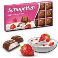 Шоколад молочный Schogetten YOGHURT-STRAWBERRY с начинкой клубничный йогурт