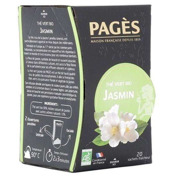 Чай зеленый Bio Pages био Жасмин 20 пак.