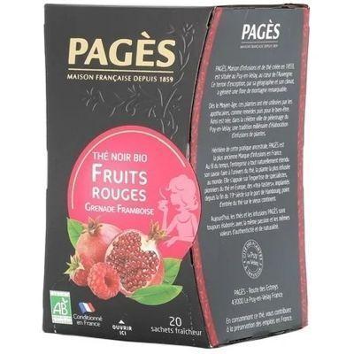 Чай черный Bio Pages био Красные фрукты гранат-малина 20 пак.