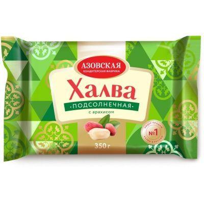 Халва подсолнечная Азовская кондитерская фабрика с арахисом
