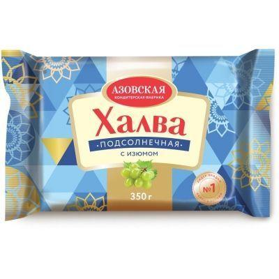 Халва подсолнечная Азовская кондитерская фабрика с изюмом