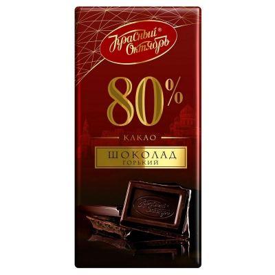 Шоколад Красный Октябрь горький 80% какао