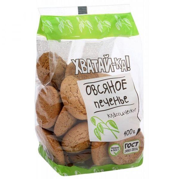Печенье Хватай-ка Овсяное классическое