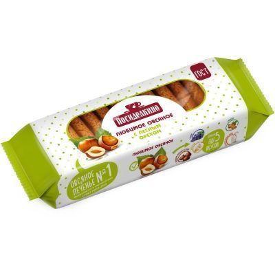 Печенье Посиделкино Овсяное с лесным орехом