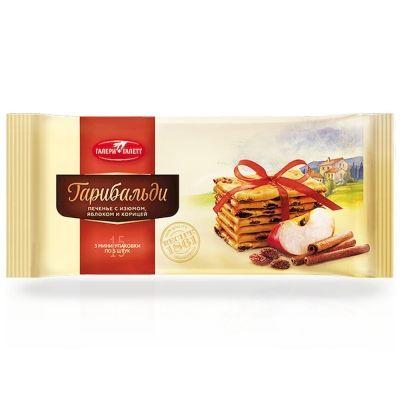 Печенье Галери Галетт Гарибальди с изюмом, яблоком и корицей