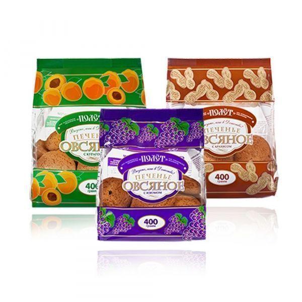 Печенье Полет Овсяное с арахисом