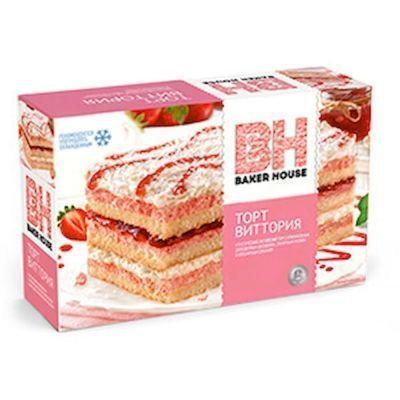 Торт бисквитный Baker House Виттория (клубничный)