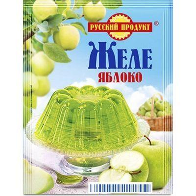 Желе быстрого приготовления Русский продукт Вкус зеленого яблока