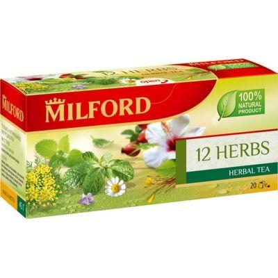 Чайный напиток Милфорд 12 трав 20 пак.