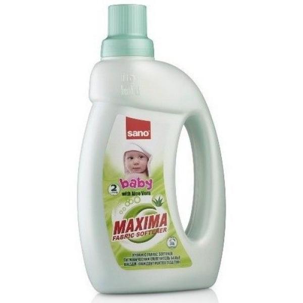 Смягчитель для белья Sano Maxima Baby с алоэ вера 5 в 1 аромат, нейтрализация запаха, мягкость, антистатик, легкая глажка (бутыль)