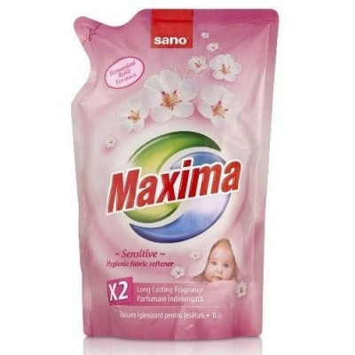 Смягчитель для белья Sano Maxima Sensitive 5 в 1 аромат, нейтрализация запаха, мягкость, антистатик, легкая глажка (запаска)
