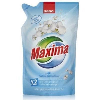 Смягчитель для белья Sano Maxima Bio 5 в 1 аромат, нейтрализация запаха, мягкость, антистатик, легкая глажка (запаска)