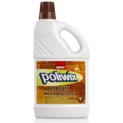 Средство для мытья полов Sano Poliwix Parquet для дерева и ламината, с натуральным воском (бутыль)