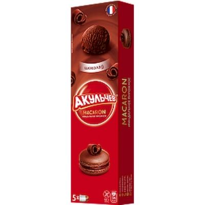 Печенье миндальное Акульчев Макаруны с начинкой с шоколадом