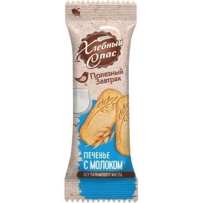 Печенье сдобное Хлебный Спас Полезный завтрак с молоком