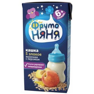 Каша ФрутоНяня молочная 5 злаков, персик