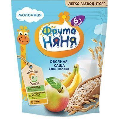 Каша ФрутоНяня овсяная молочная яблоко, банан 6+