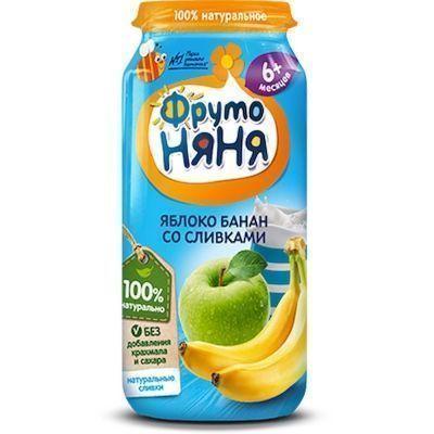 Пюре ФрутоНяня яблоко, банан, сливки ст/б