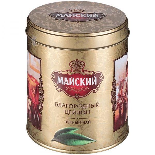 Чай Майский Благородный Цейлон черный крупнолистовой ж/б