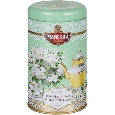 Чай Майский Дачная Коллекция зеленый Жасмин ж/б