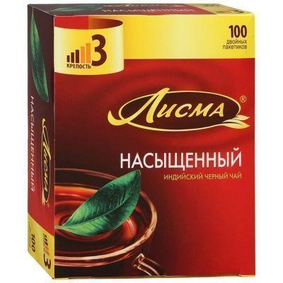 Чай Лисма Насыщенный препак 100 пак.