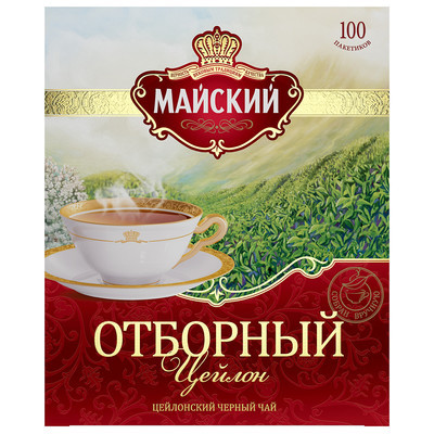 Чай Майский Отборный Цейлон черный 100 пак.