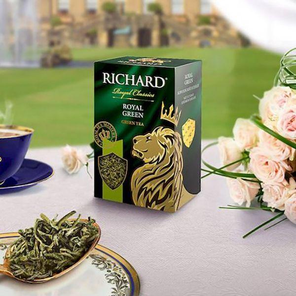 Чай Ричард Роял Грин зеленый крупный лист