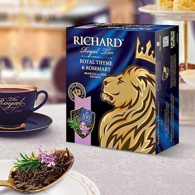 Чай Ричард Королевский чабрец и розмарин 100 пак.