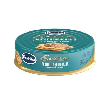 Паштет Печёночный с индюшиной печенью Курганский мясокомбинат Perva Extra ключ