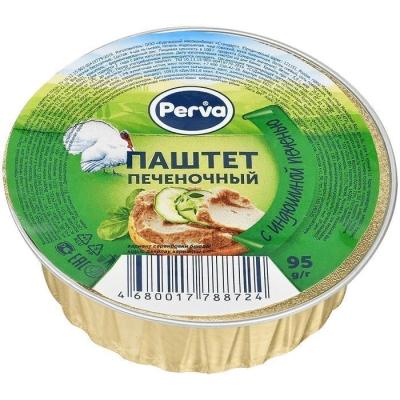 Паштет Печёночный с индюшиной печенью Курганский мясокомбинат Perva круг